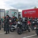 Convoi cu ajutoare umanitare acompaniat de motocicliști