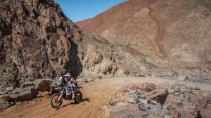 Emaneul Gyenes intr-unul dintre canioanele din Dakar 2019