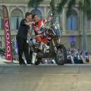Emanuel Gyenes #29 si Marcel Butuza #80 la startul Raliului Dakar 2017